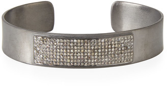 Siena Jewelry Bar Cuff Bracelet with Pave Diamonds