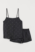 H&M Pajama Camisole Top and Shorts - Black