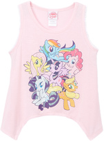 Jerry Leigh Pink My Little Pony Sidetail Tank - Tween