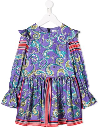 Philosophy Di Lorenzo Serafini Kids Paisley Print Flared Dress