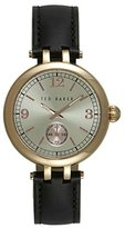 Ted Baker Women's 'Smart Casual' Quartz Stainless Steel and Leather Dress Watch, Color:Beige (Model: 10027797)