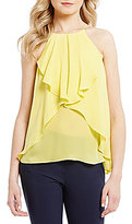 Antonio Melani Honor Halter Neck Sleeveless Silk Blouse