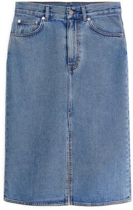 Arket Denim Midi Skirt