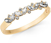 Charter Club Gold-Tone Marquise Crystal Hinge Bangle Bracelet, Created for Macy's