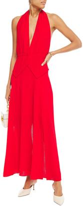 Roland Mouret Wool-crepe Halterneck Maxi Dress