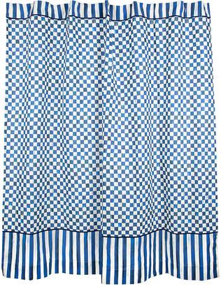 Mackenzie Childs Royal Check Shower Curtain
