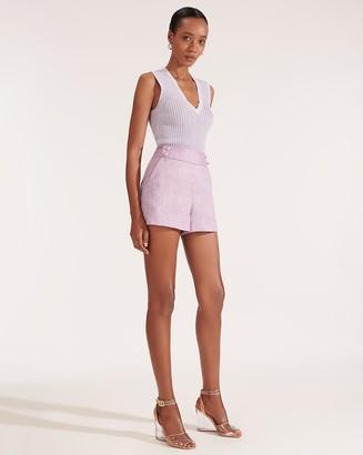 Veronica Beard Kimm Herringbone Linen Short