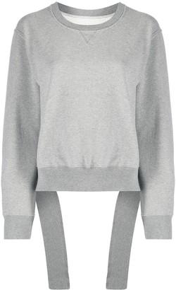MM6 MAISON MARGIELA Cropped Fallen Waistband Effect Sweatshirt
