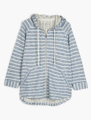 Stripe Hooded Poncho