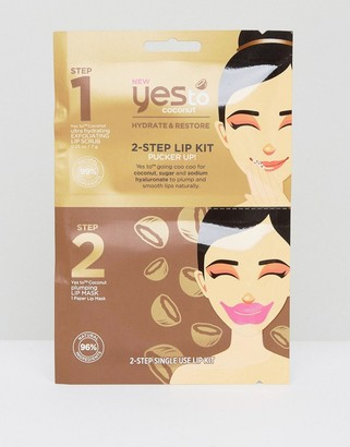 Yes To Coconut 2-Step Lip Mask Kit
