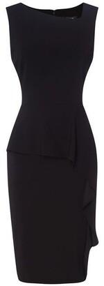 DKNY Asymmetrical Peplum Sheath Dress