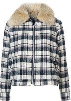 Jenni Kayne checked shearling jacket
