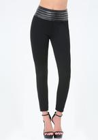 Bebe Petite Zip High Leggings