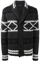 Fay patterned cardigan - men - Wool - 50