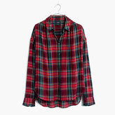 Madewell Central Long-Sleeve Shirt in Tartan Plaid