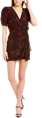 The Kooples Bouquet De Coeur Rouge Silk-Blend Wrap Dress