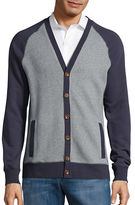 Black Brown 1826 Button Front Terry Cardigan