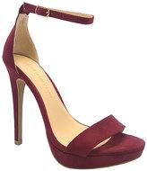 Wild Diva Burgundy Madden Ankle-Strap Pump