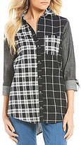 Westbound Petites One-Pocket Boyfriend Shirt