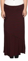 Libian Jr Plus Size Classic Everyday Wear Diagonal and Stripped Long Maxi Skirt
