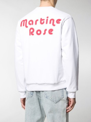 Martine Rose Reversible Clown And Flowers Illustrated Sweatshirt