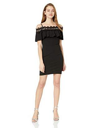 Amy Byer A. Byer Shoulder Body Con Form-Fitting Dress (Junior's)