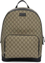 Gucci Beige GG Supreme Logo Backpack