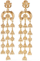 Oscar de la Renta Ornate Gold-tone Clip Earrings - one size