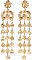 Oscar de la Renta Ornate Gold-tone Clip Earrings - one size