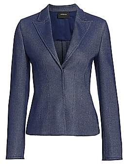 Akris Women's Piqué Chambray Short Jacket