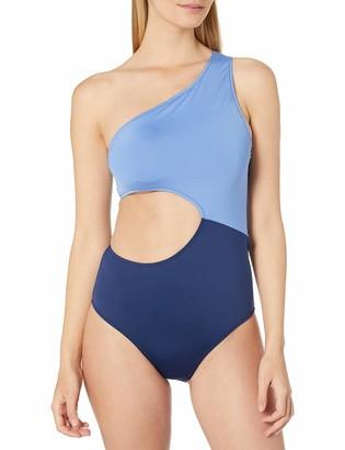 Jessica Simpson Women's Contrast Panel One-Piece Swimsuit