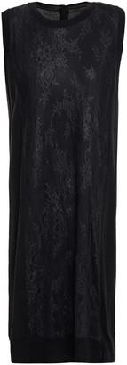 MM6 MAISON MARGIELA Layered Leavers Lace And Wool Dress