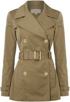 Michael Kors Short pleated trench jacket