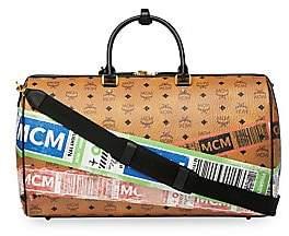 MCM Men's Traveller Flight-Print Visetos Weekender