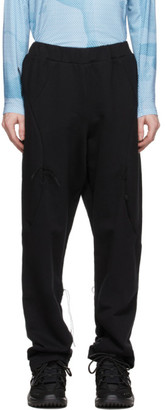Saul Nash SSENSE Exclusive Black and Blue Hybrid Trackpant Trousers