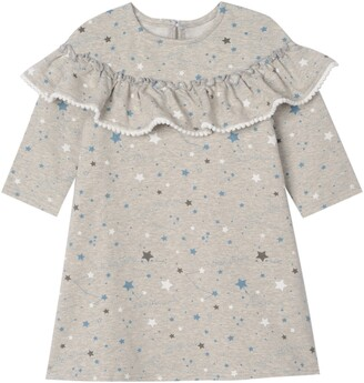 Pippa & Julie Kids' Star Print Ruffle Dress