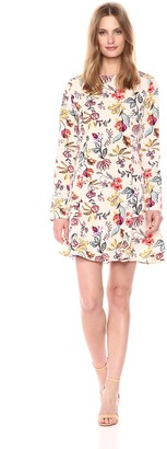 Glamorous Women's Floral Print Long Sleeve Dress