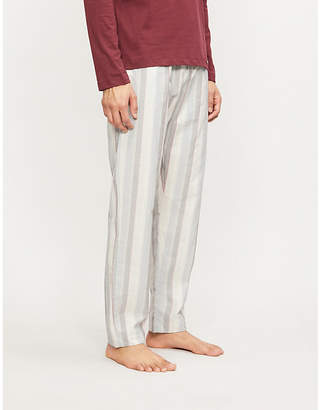 Hanro Striped cotton pyjama bottoms