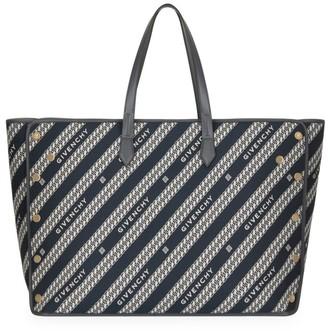 Givenchy Large Bond Logo Jacquard Shopper