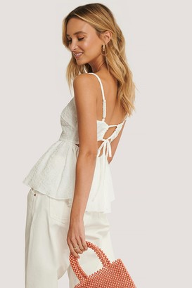 NA-KD Open Back Structured Top