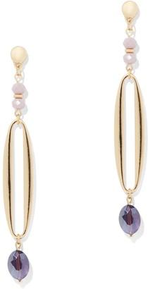 New York & Co. Goldtone Linear Drop Earring