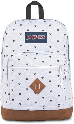 JanSport Heart Print City View Remix Backpack