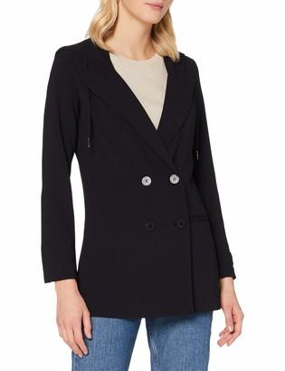 Armani Exchange Women's Fluid Stretch Hooded Blazer Business Casual