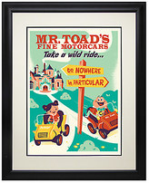 Disney Mr. Toad's Wild Ride Retro Poster Deluxe Print - Framed - Limited Edition
