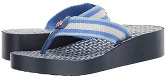 Tory Burch Gemini Link Wedge Flip-Flop (Bondi Blue/Bondi Blue) Women's Shoes