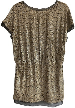 Aidan Mattox Gold Glitter Dress for Women