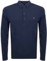 Farah Vintage Merriweather Polo T Shirt Navy