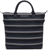 WANT Les Essentiels Navy Canvas and Cord Ohare Tote