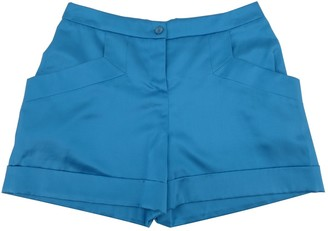 Emilio Pucci Blue Silk Shorts for Women