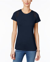 INC International Concepts Mesh-Inset T-Shirt, Created for Macy's